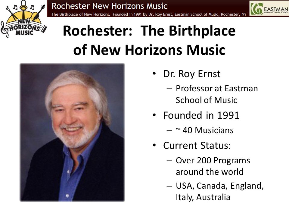 Rochester: The Birthplace of New Horizons Music
