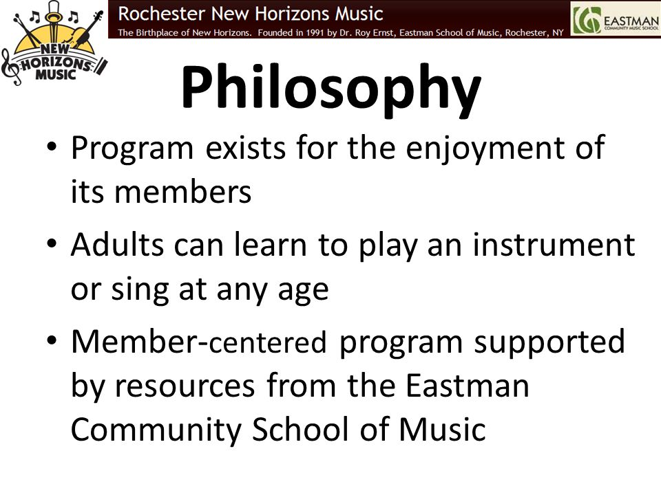 Philosophy Program exists for the enjoyment of its members