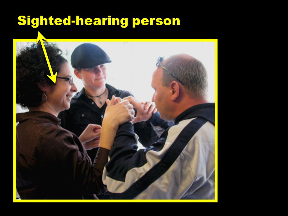 Sighted-hearing person