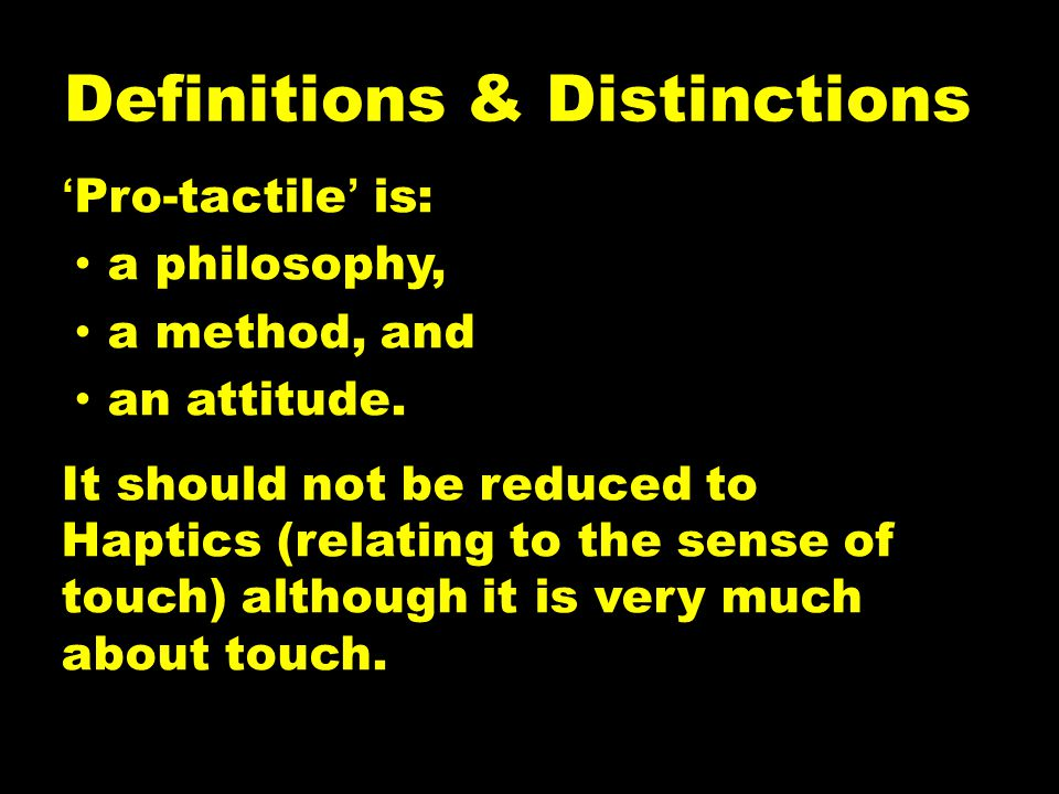 Definitions & Distinctions