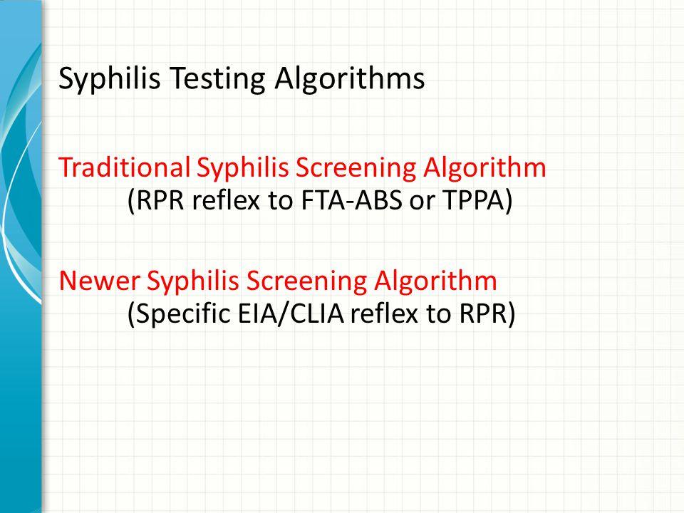 Syphilis Testing Algorithms