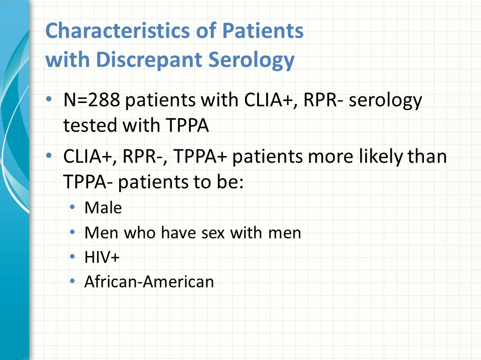 Characteristics of Patients with Discrepant Serology