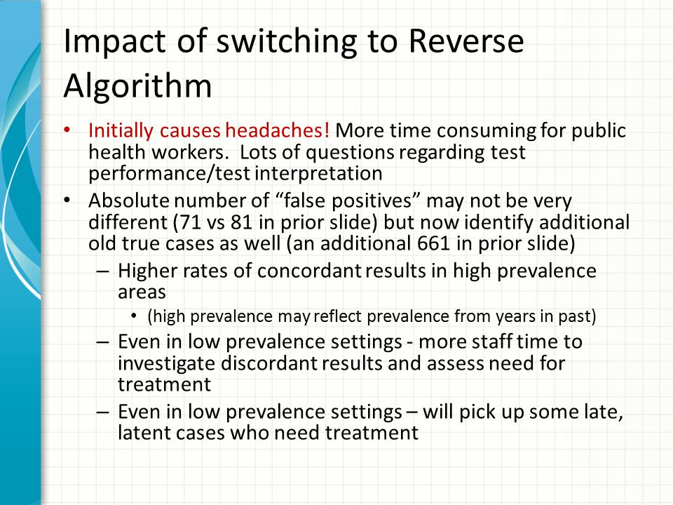 Impact of switching to Reverse Algorithm