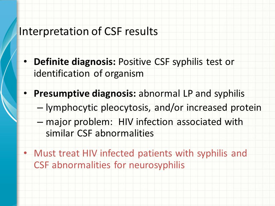 Interpretation of CSF results
