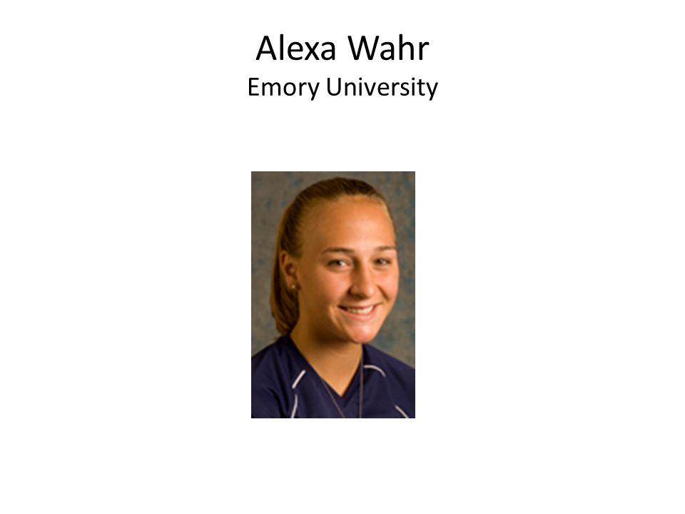 Alexa Wahr Emory University