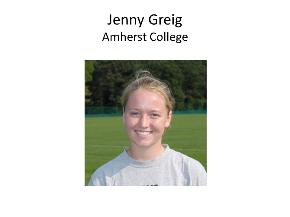 Jenny Greig Amherst College