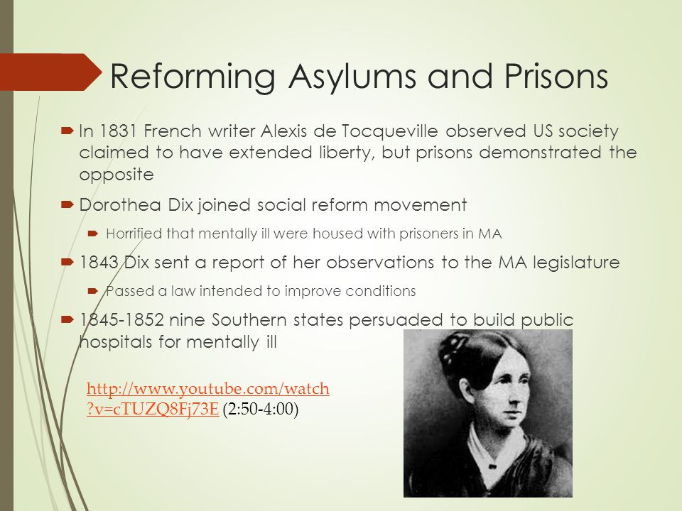 Reforming Asylums and Prisons