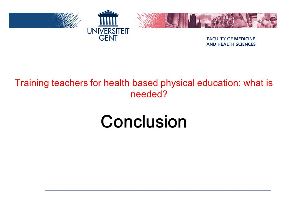 Training teachers for health based physical education: what is needed