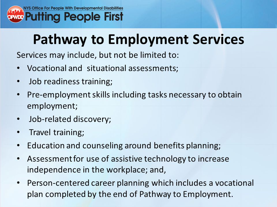 Pathway to Employment Services