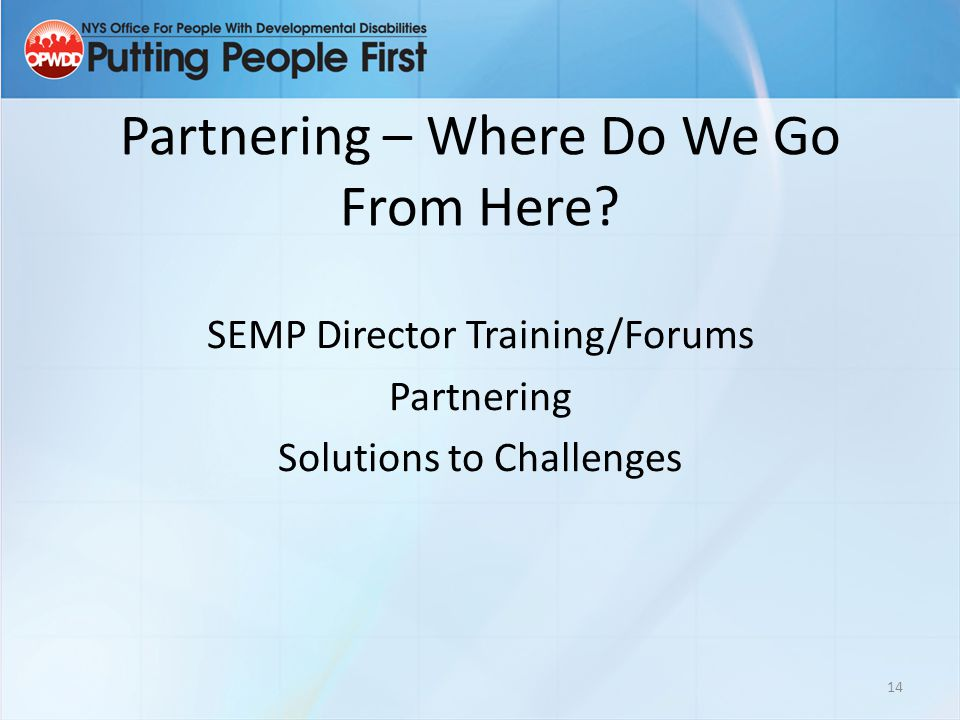 Partnering – Where Do We Go From Here