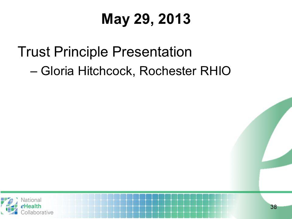 May 29, 2013 Trust Principle Presentation