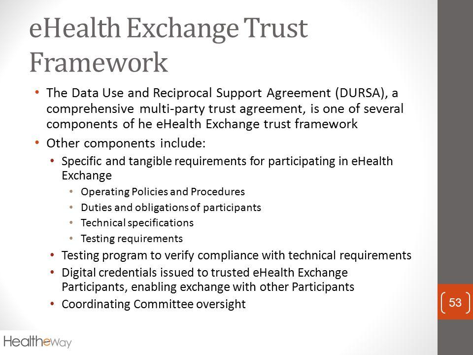 eHealth Exchange Trust Framework