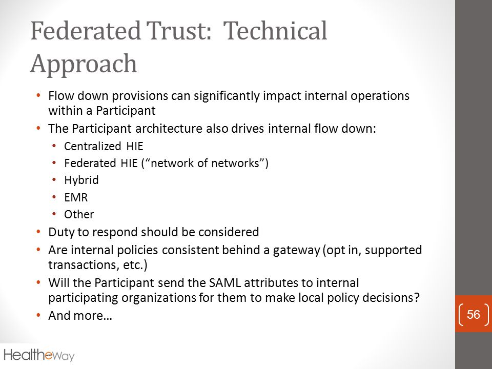 Federated Trust: Technical Approach