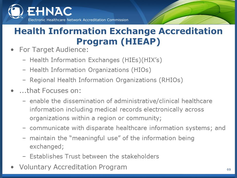 Health Information Exchange Accreditation Program (HIEAP)