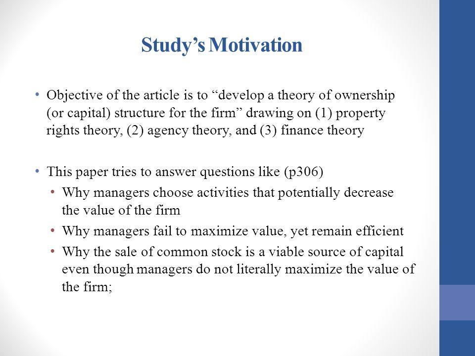 Study's Motivation