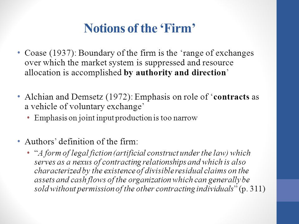 Notions of the 'Firm'