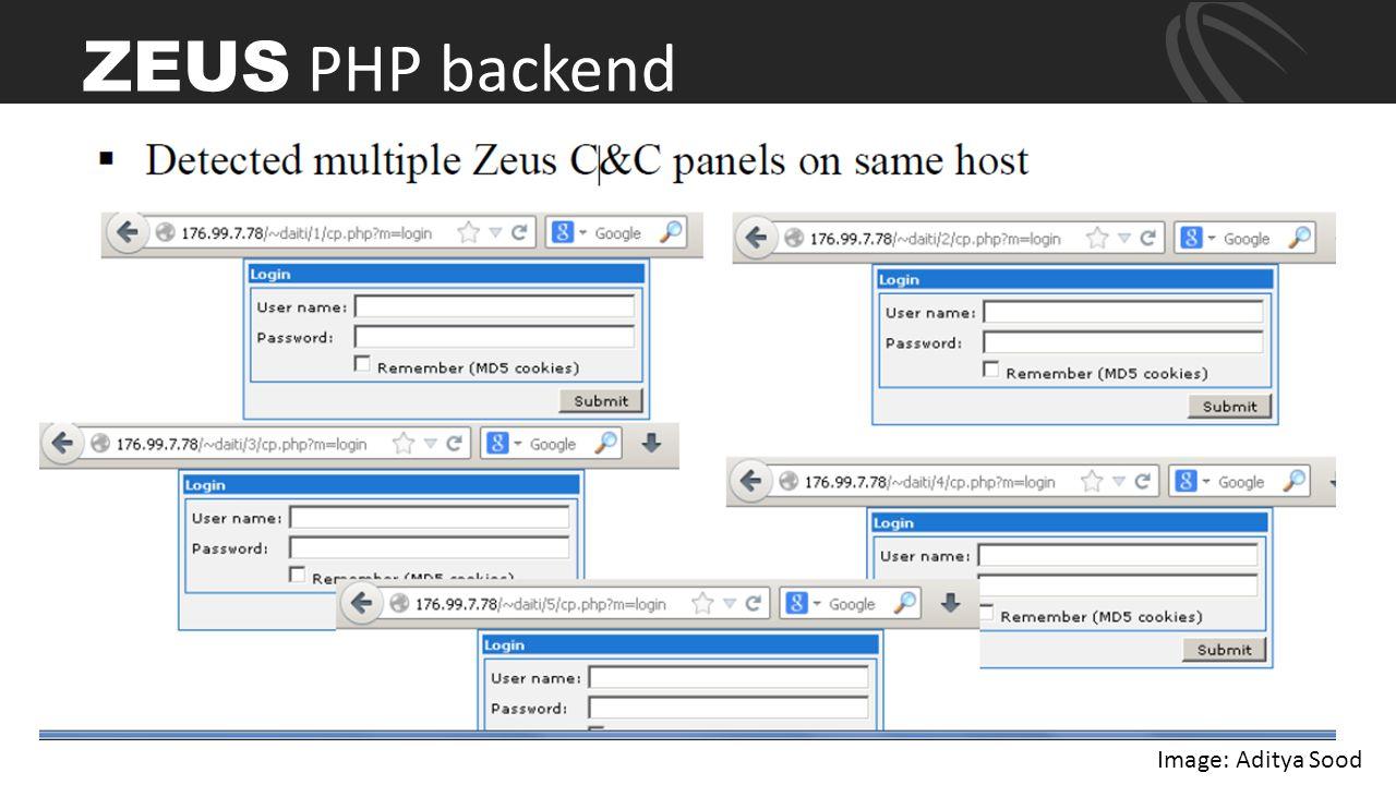 ZEUS PHP backend Image: Aditya Sood