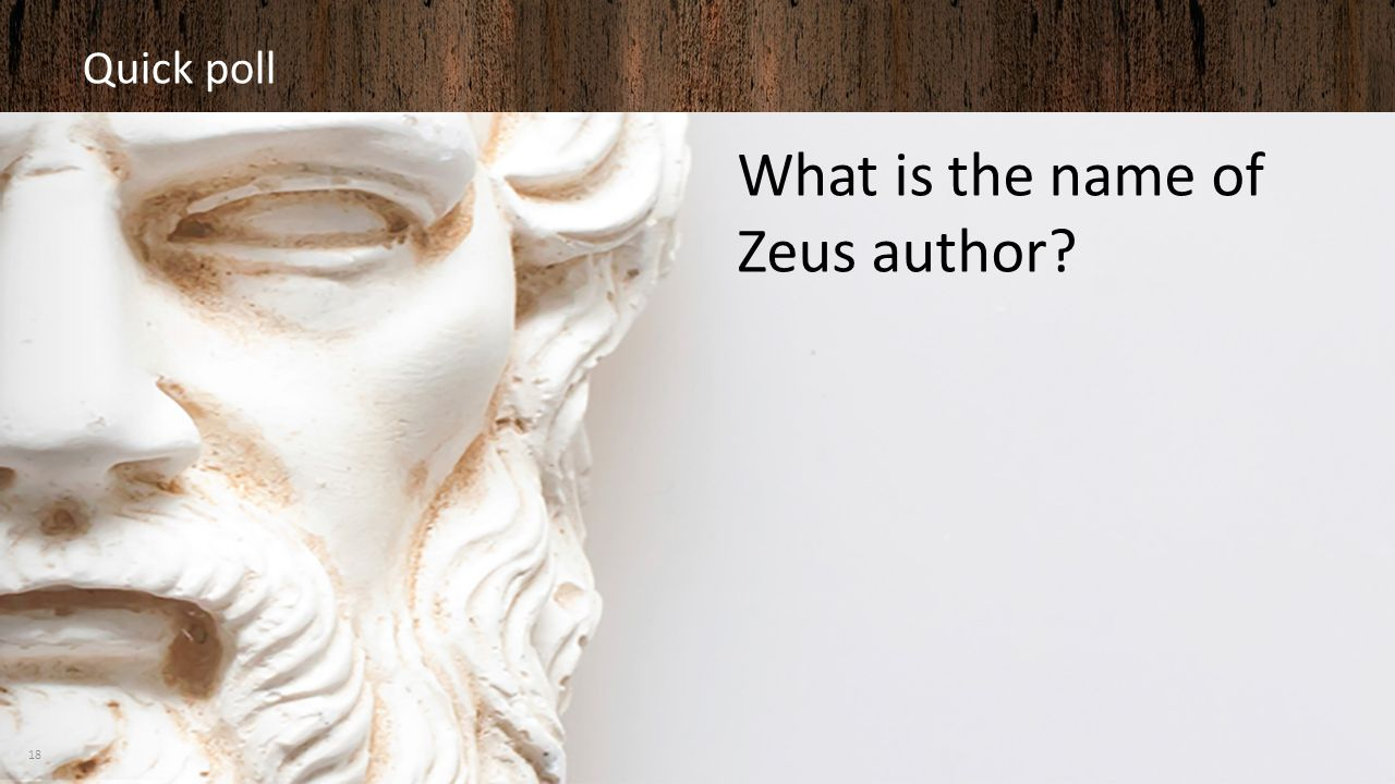 What is the name of Zeus author