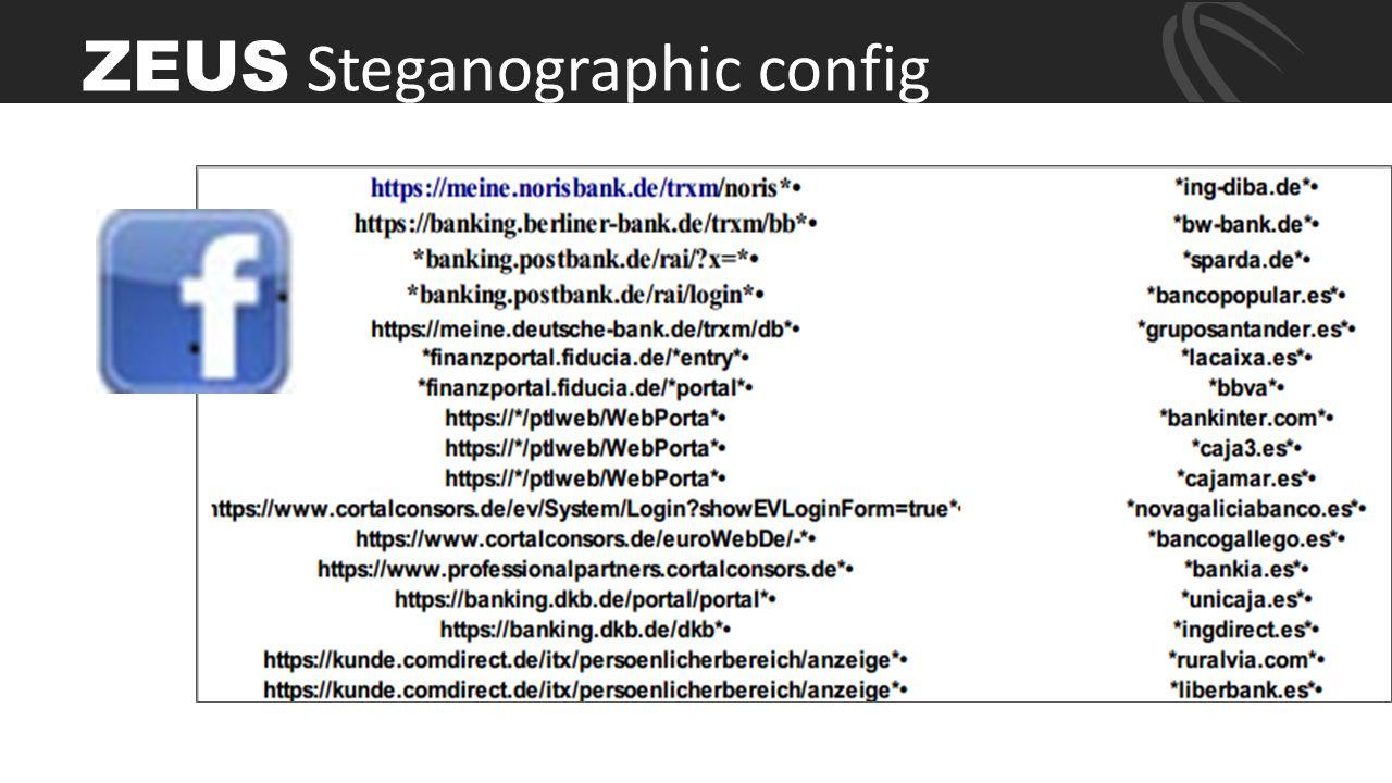 ZEUS Steganographic config