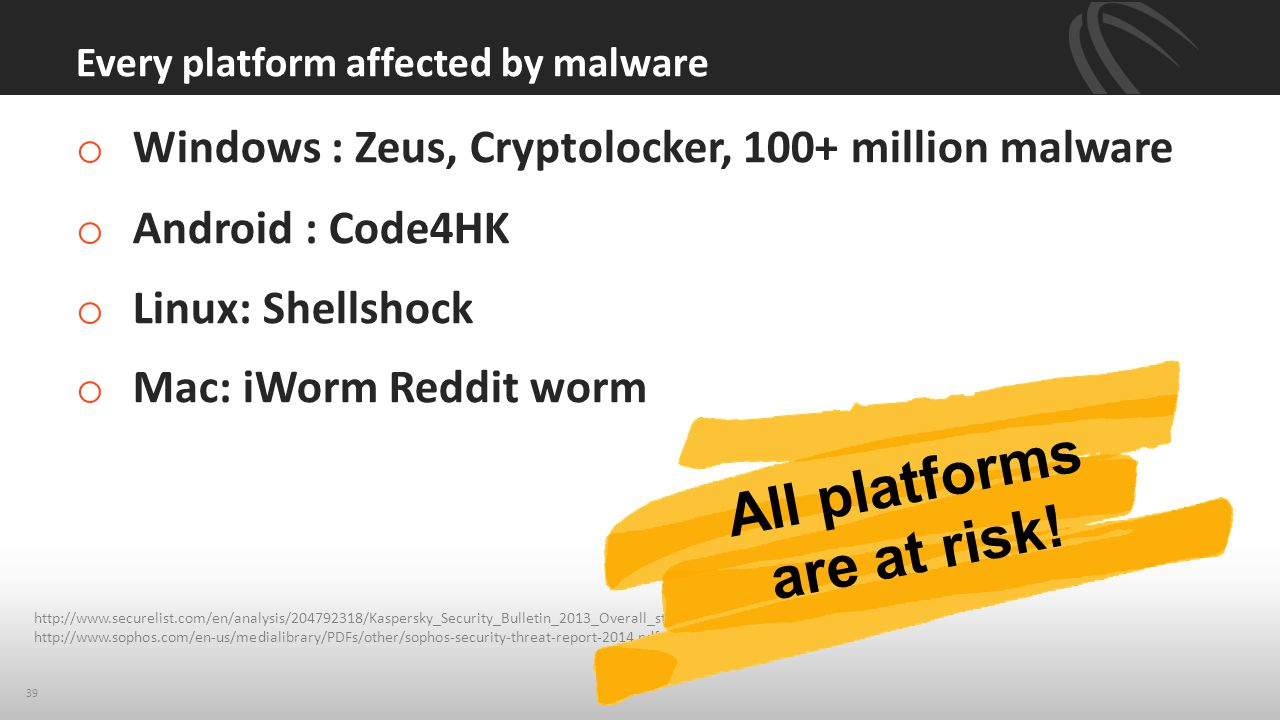 Every platform affected by malware