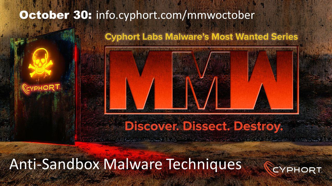 Anti-Sandbox Malware Techniques