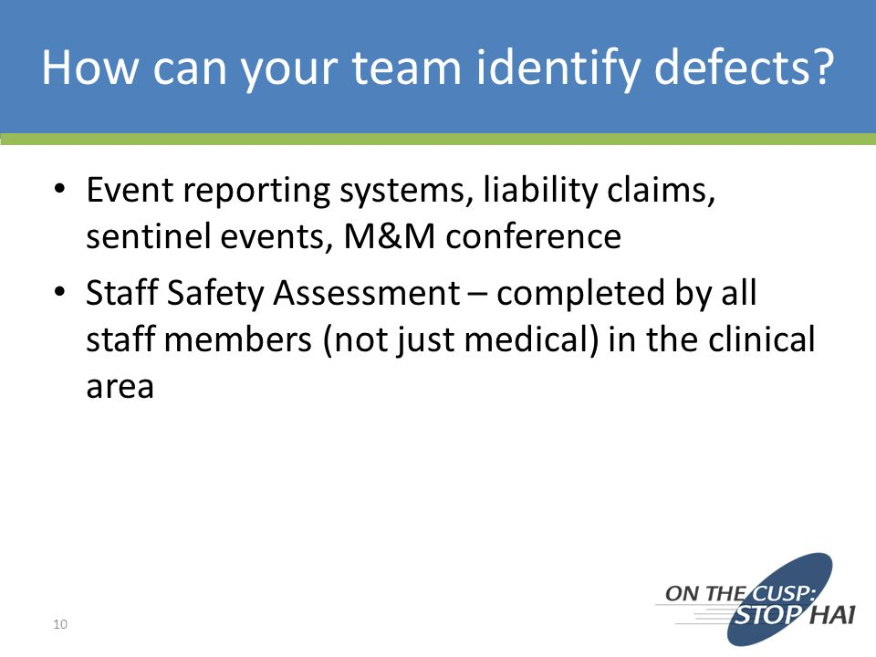 How can your team identify defects