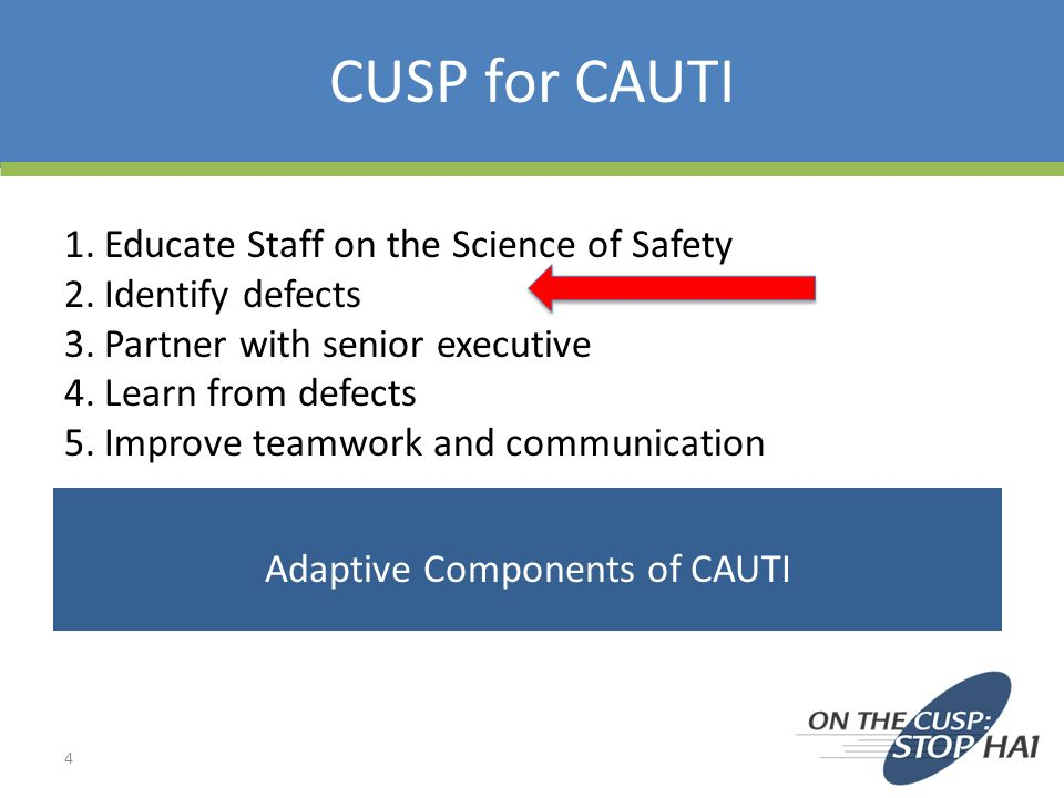 Adaptive Components of CAUTI