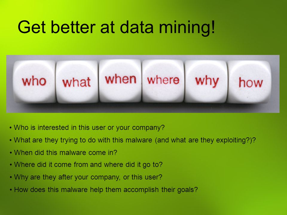 Get better at data mining!