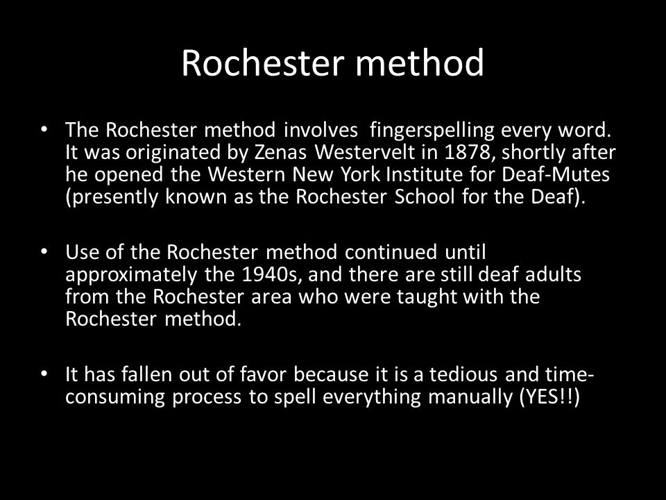 Rochester method