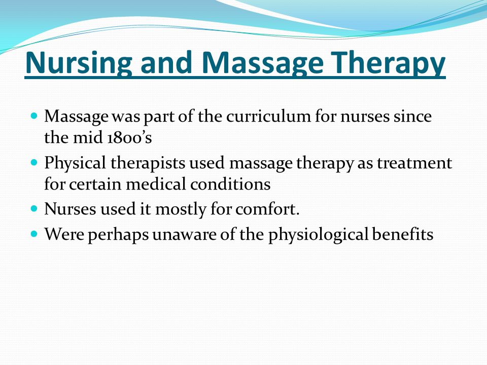 Nursing and Massage Therapy