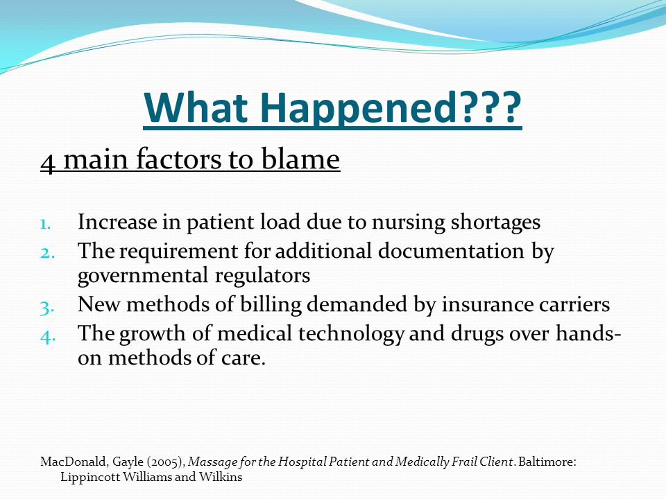 What Happened 4 main factors to blame