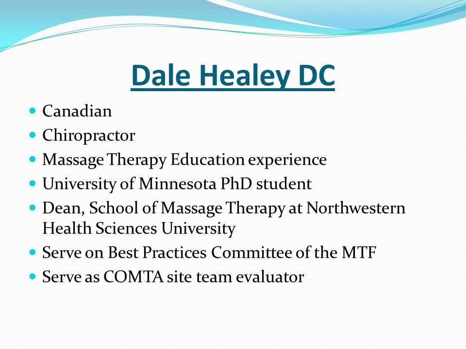 Dale Healey DC Canadian Chiropractor
