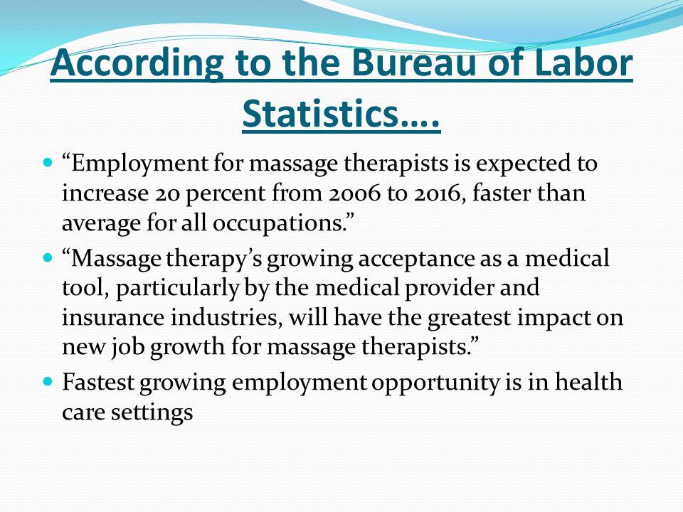 According to the Bureau of Labor Statistics….