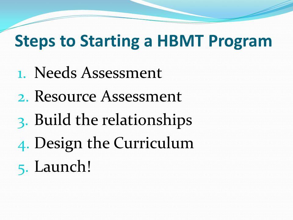 Steps to Starting a HBMT Program