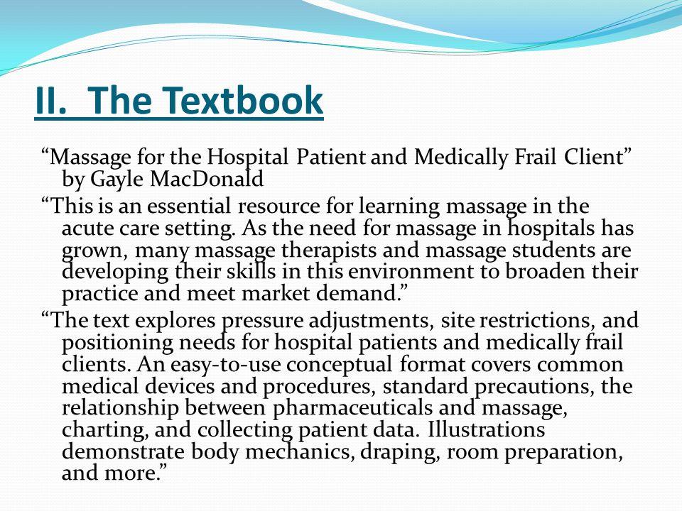 II. The Textbook