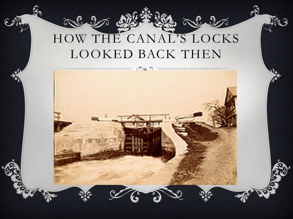 How the canal's locks looked back then