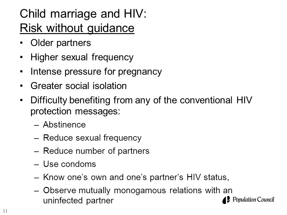 Child marriage and HIV: Risk without guidance