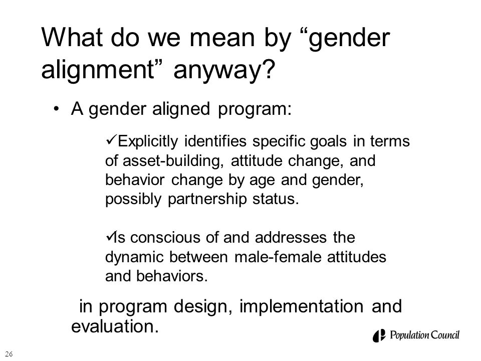 What do we mean by gender alignment anyway