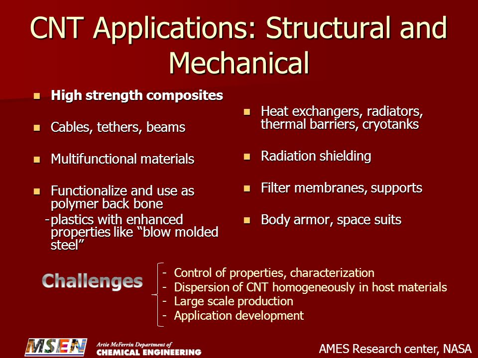 CNT Applications: Structural and Mechanical