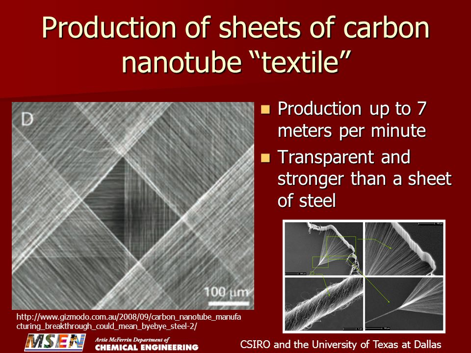 Production of sheets of carbon nanotube textile