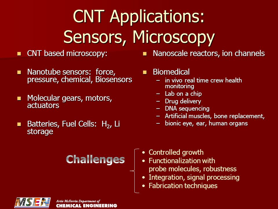 CNT Applications: Sensors, Microscopy