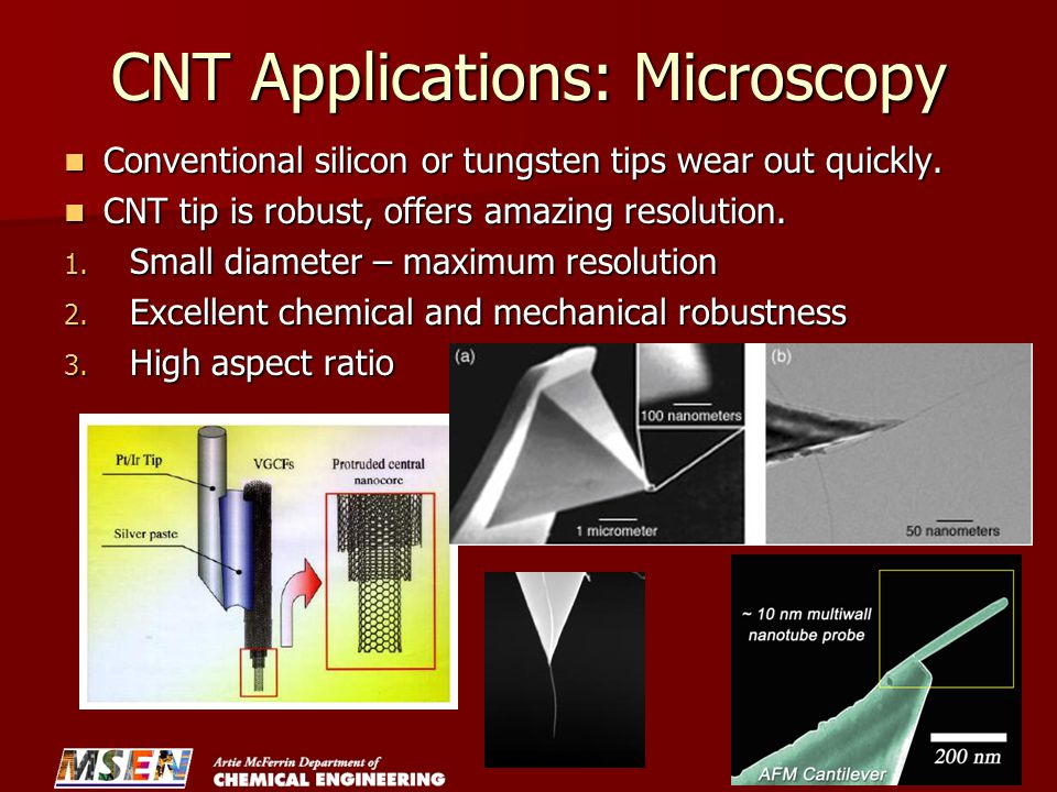 CNT Applications: Microscopy