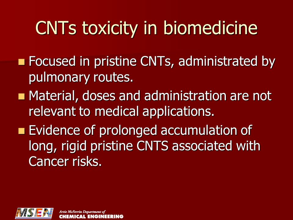 CNTs toxicity in biomedicine