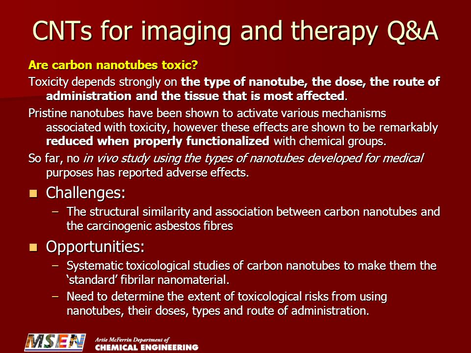 CNTs for imaging and therapy Q&A