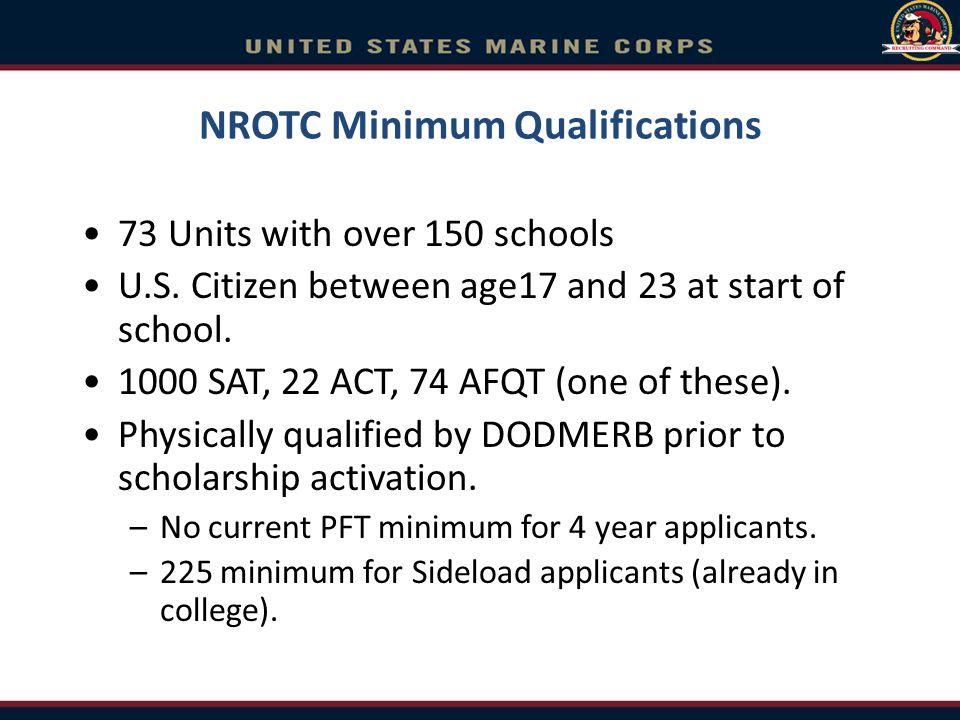 NROTC Minimum Qualifications