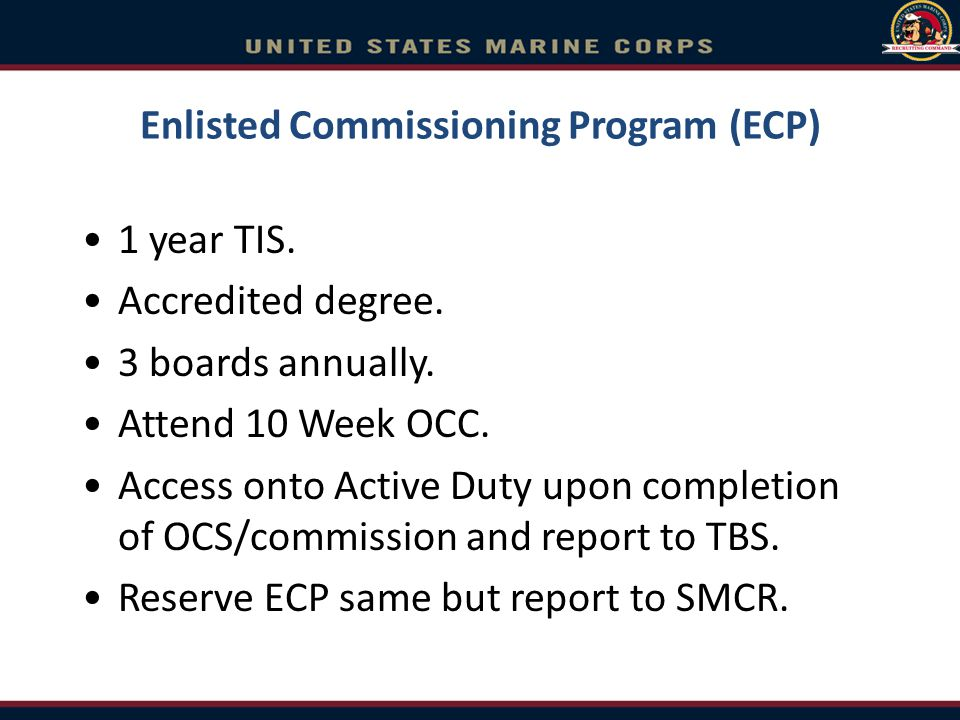 Enlisted Commissioning Program (ECP)