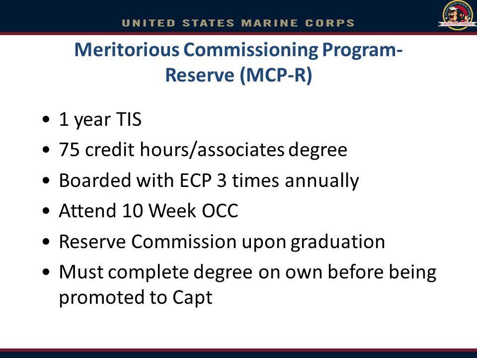 Meritorious Commissioning Program-Reserve (MCP-R)
