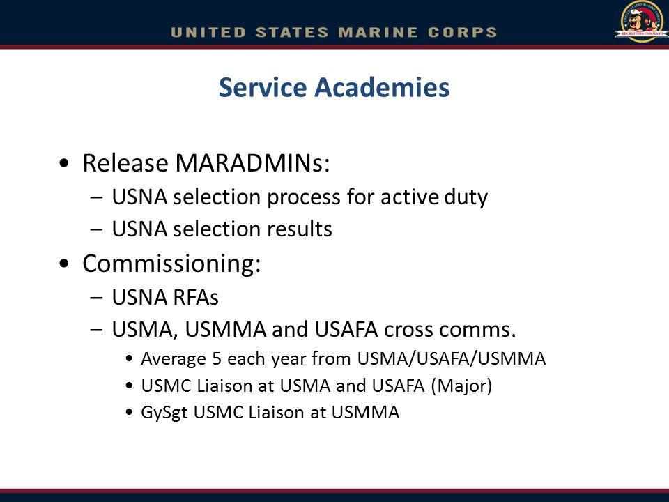Service Academies Release MARADMINs: Commissioning: