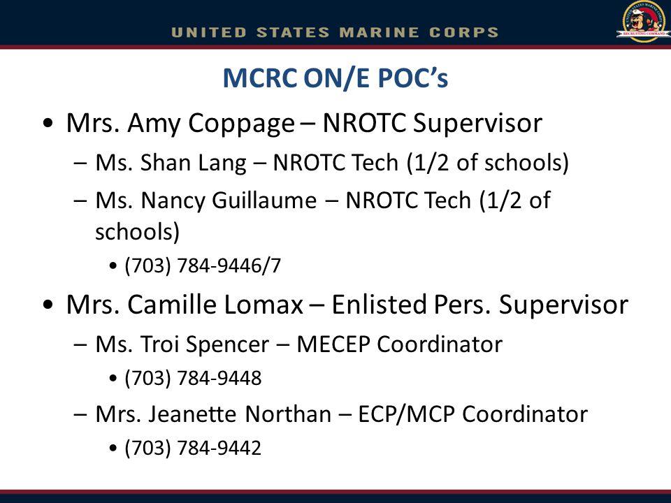 Mrs. Amy Coppage – NROTC Supervisor