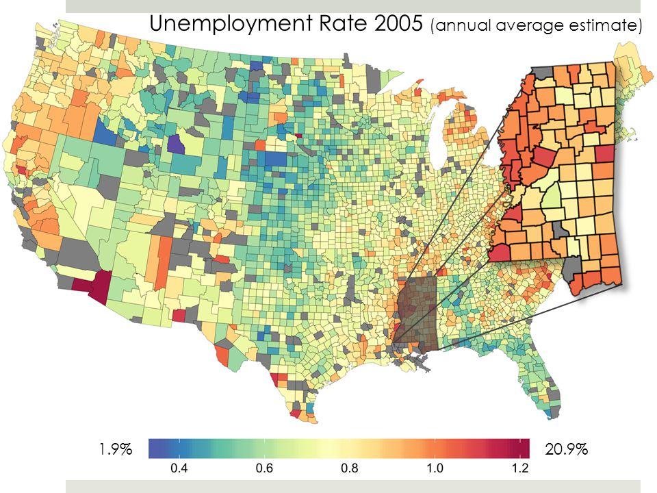Unemployment Rate 2005 (annual average estimate)
